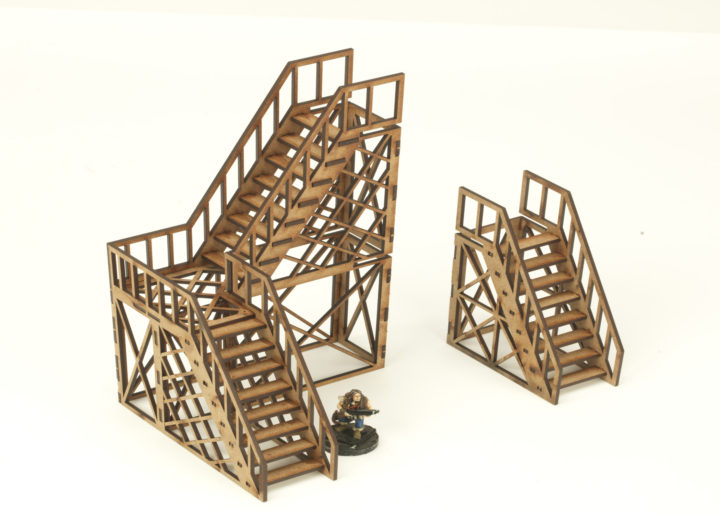 Stairs open web 2 + 1 storey twin pack