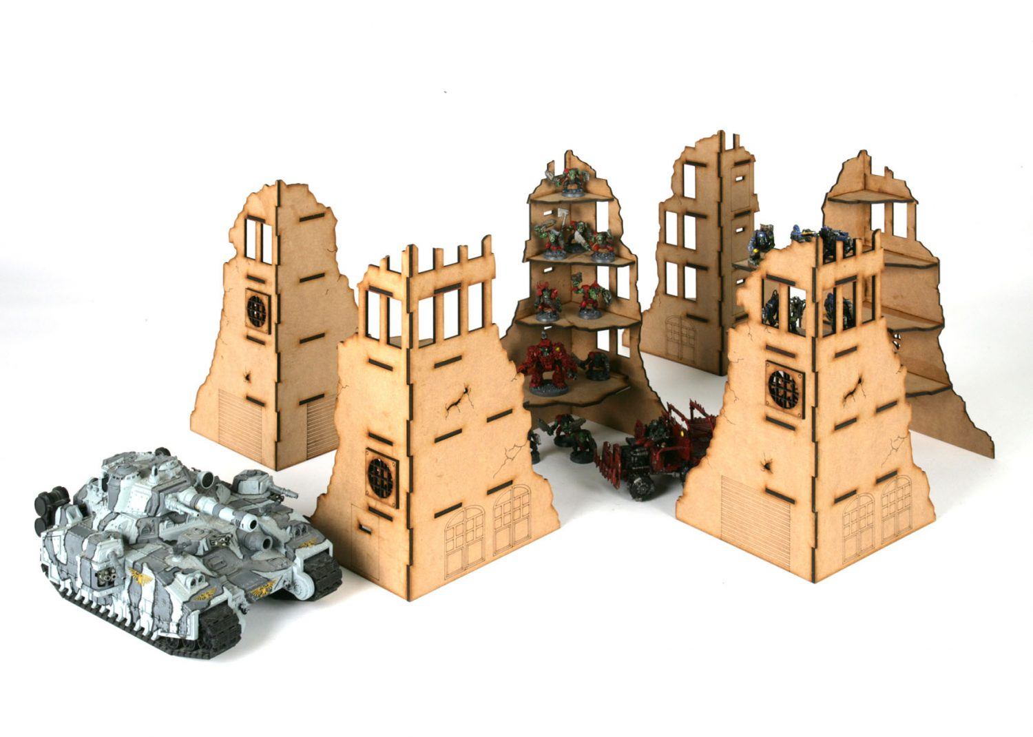 city fast 2 massive ruins set 28mm terrain 32 ruined buildings wargames tournaments. Black Bedroom Furniture Sets. Home Design Ideas