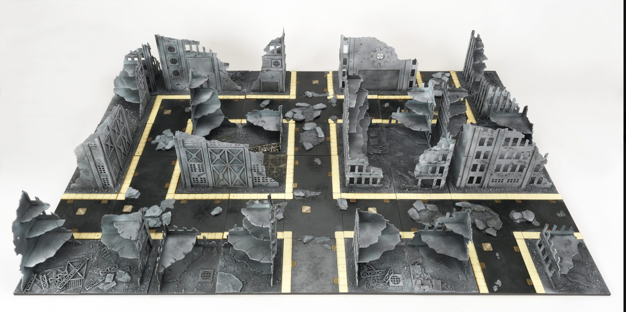 Fully Painted Premier City Board – 28mm Terrain | Wargames Tournaments